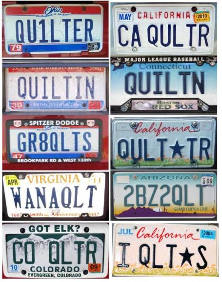 "Great ""Quilty"" License Plates"