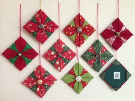 easy origami christmas ornaments instructions