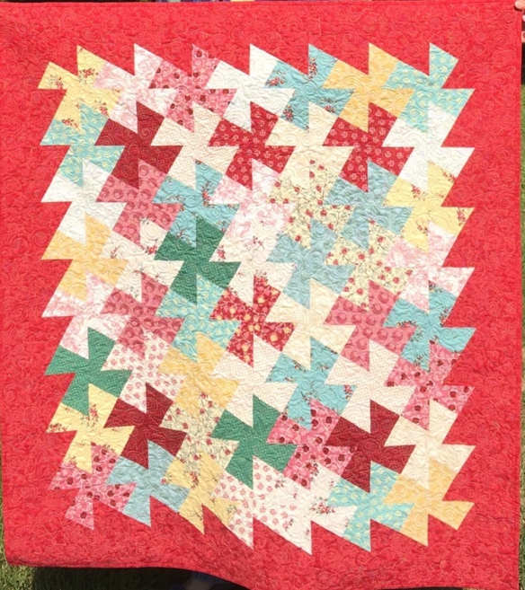 f5f0ec12 I made a bunch of quilt tops this past year, finished five charity quilts  (little ones), gave away two quilts to new grandnieces…